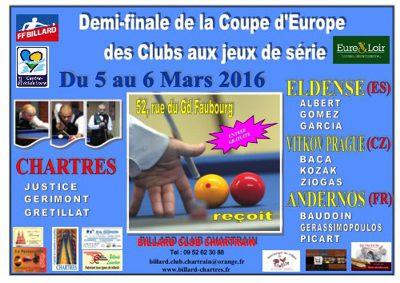 03.03.2016 – CHARTRES EN COUPE D'EUROPE AUX JEUX DE SERIES