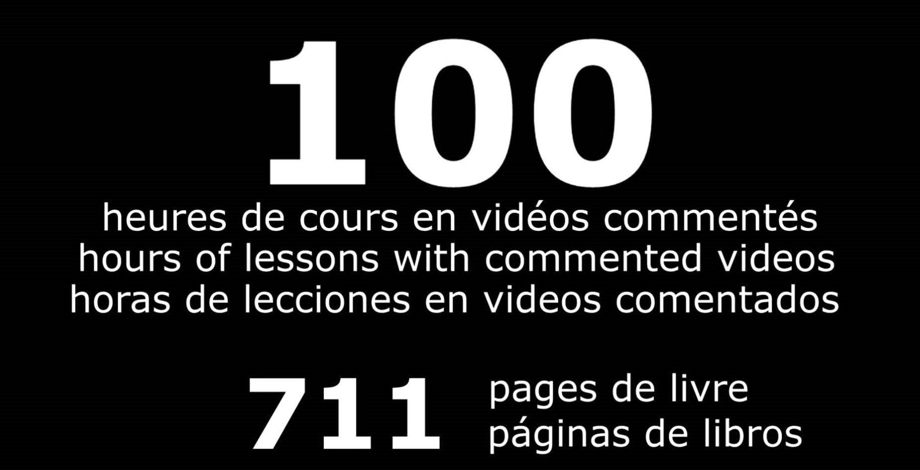 Evénement le 9 mars 2020 pour fêter les 100 heures de cours commentés en vidéos !